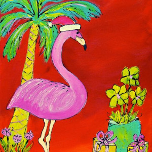 Flamingo christmas   med ur397s