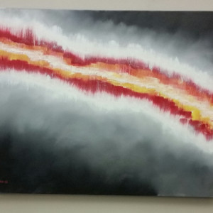 Fault line 24 x 30 acrylic oil on canvas tslhjn