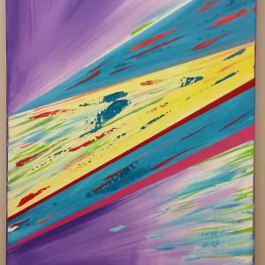 Warp speed 16 x 40 acrylic on canvas gzdfhr