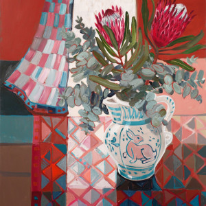 Christine webb the rabbit and the protea 91x76cm e omhgr4