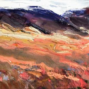 Sally veach red clover 2 oil on canvas 11 x 14 dp7oax