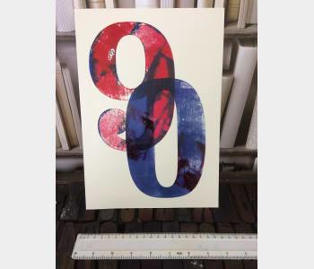 a4 'Big Number' Card