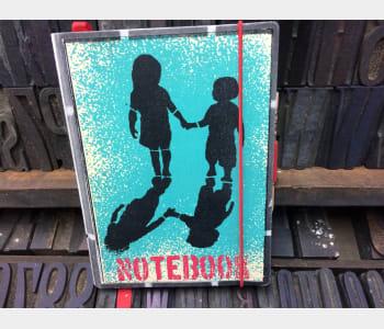 Medium Notebook, (Two children)