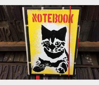 Medium Notebook, (Kitten)
