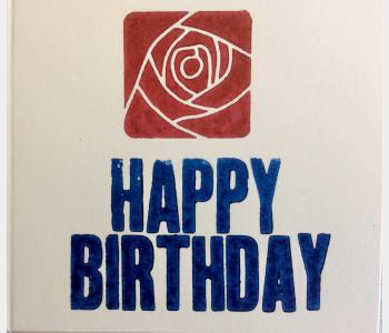 Happy Birthday (Mackintosh Rose)