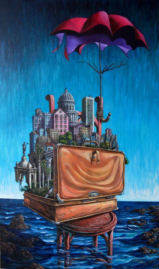 La maleta del emigrante. Serie Cajas¨. 2013