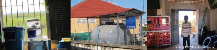 Water filter and water reservoir identified to minimize the hazards