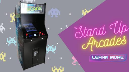 Stand up arcade machines