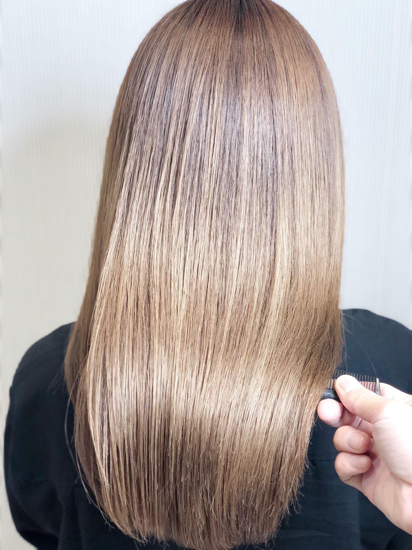 髪質改善縮毛矯正のやり方。