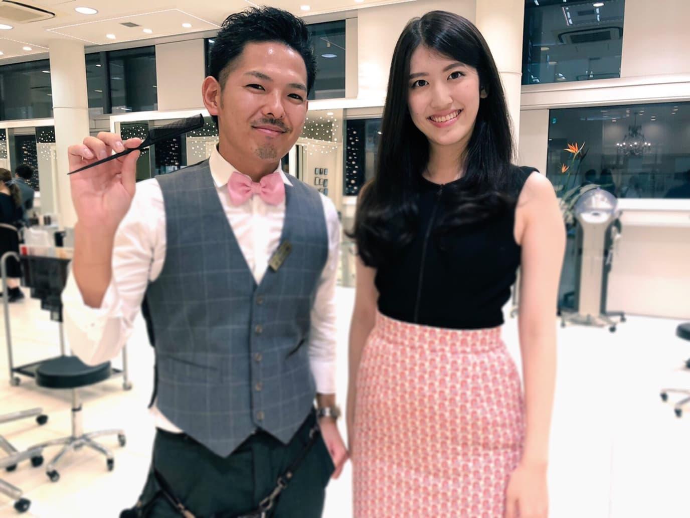 ミスインターナショナル日本代表の杉本雛乃ちゃんに髪質改善縮毛矯正とイルミナカラーしてみた。