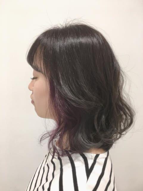 ash gray+twilight purple