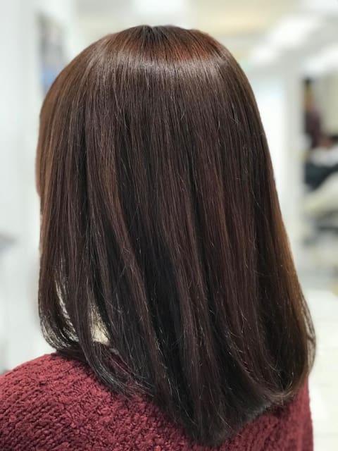 《イルミナカラー》温かみのあるピンクブラウン!サラサラ艶髪