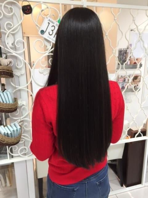 縮毛矯正×ブラックカラー