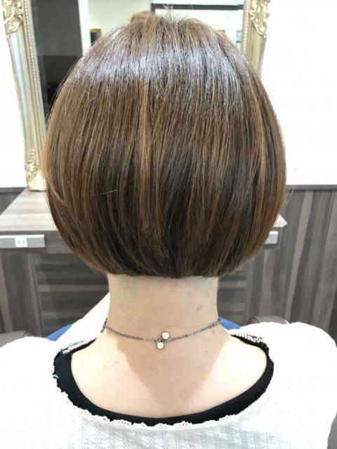 縮毛矯正ハードショートスタイル