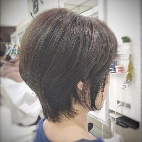王道グラデーションボブ②