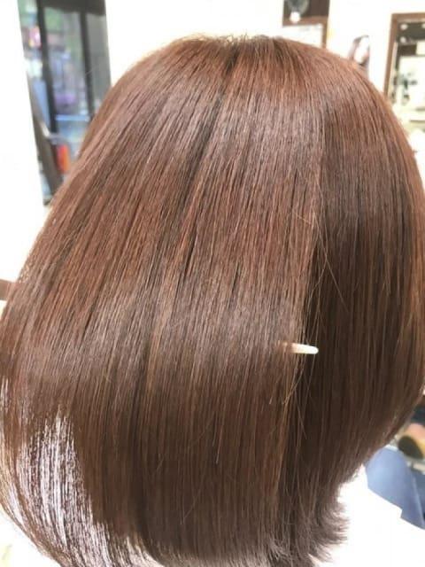 イルミナカラー+縮毛矯正