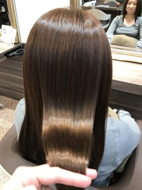 縮毛矯正ハードのロングスタイル