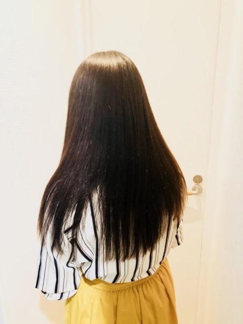 クセの強い髪からサラサラ髪へ
