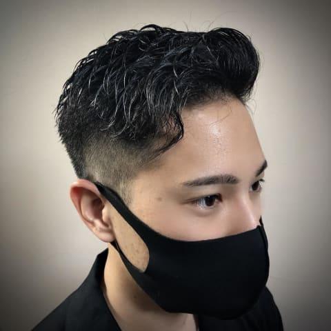 《刈り上げ×短髪》