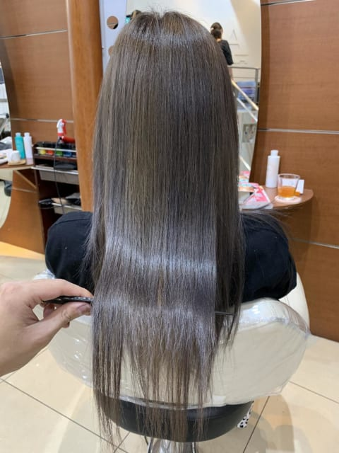 髪質改善カラー×濃密ヘアエステ 酸熱トリートメント