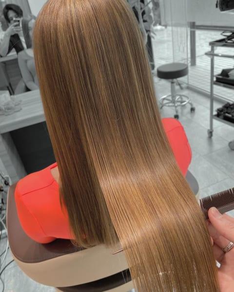 髪質改善×縮毛矯正 ビフォーアフター