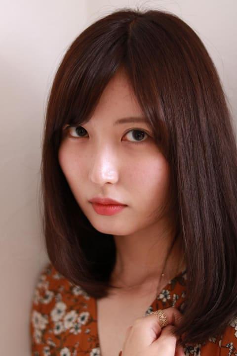 【髪質改善】オレンジブラウンストレート