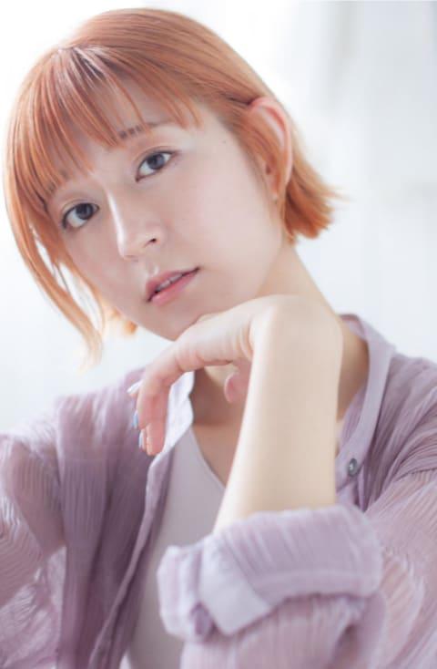 外ハネボブ×オレンジカラー☆