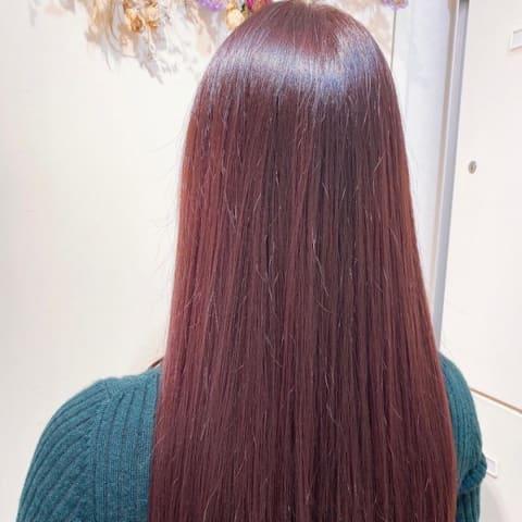冬カラーのサラツヤロング