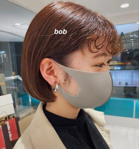 bob×くりくりバングパーマ