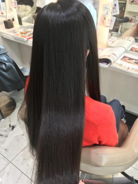 ロング毛の縮毛矯正のやり方