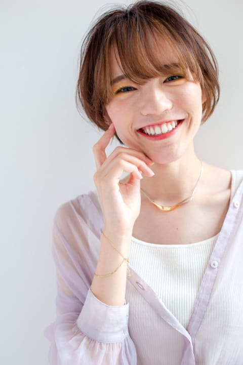 狂気スマイル☆ひし形ショートボブ☆