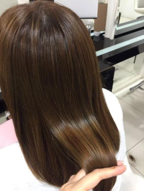 縮毛矯正カラー