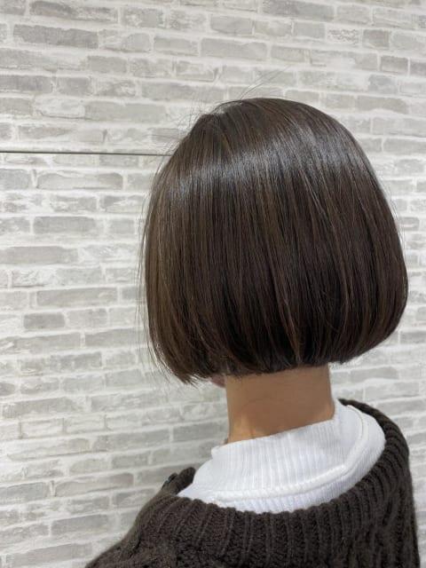 ナチュラル縮毛矯正×ミニボブ