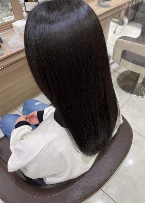 髪質改善ストレート×セミロング