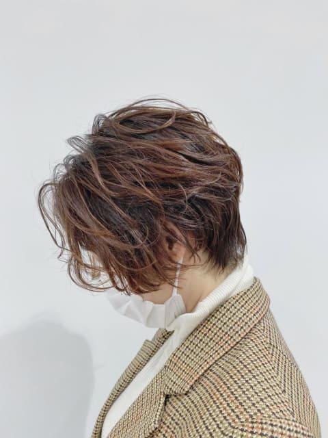 【小顔効果】艶ショート