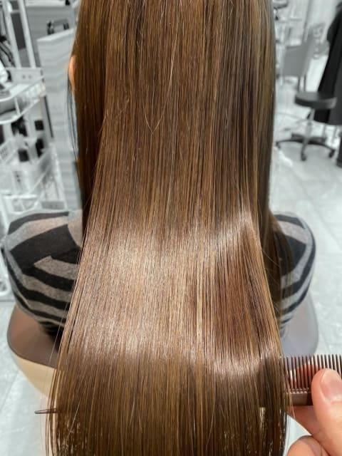 髪質改善酸熱トリートメント ビフォーアフター