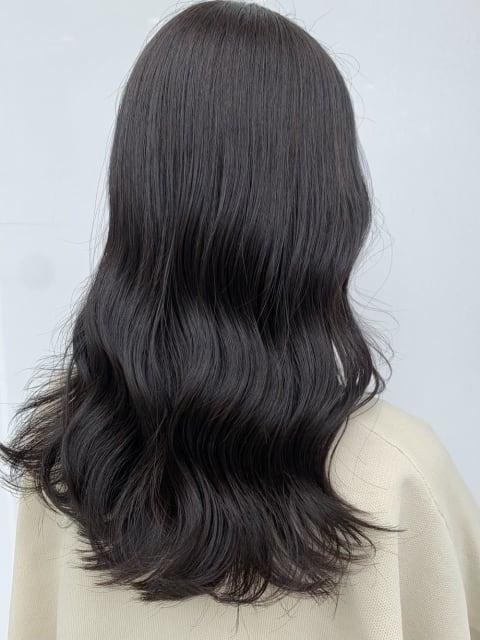 【髪質改善カラー】ナチュラルに盛れる黒髪