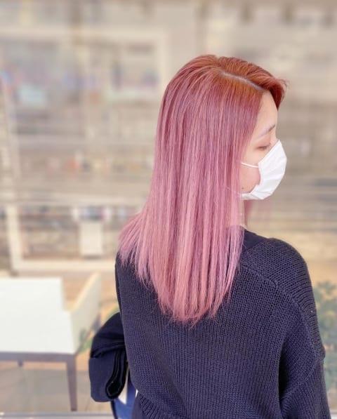 ダブルカラー ピンク