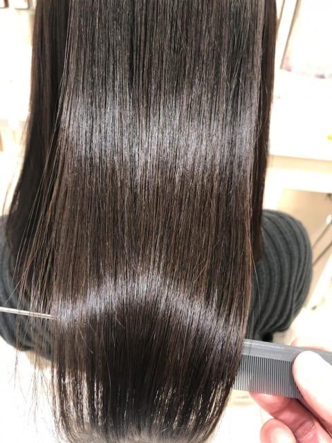 髪質改善×セミロング