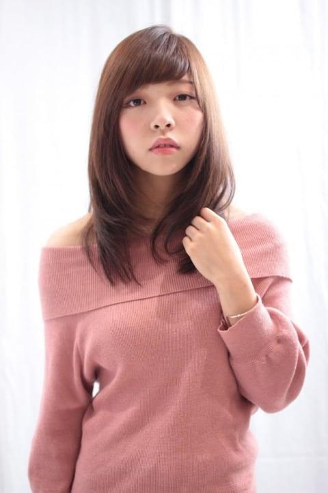 綺麗めカジュアル美髪ミディ