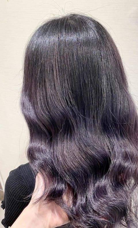 他と差をつける圧倒的な艶髪【プラムウィスタリア】