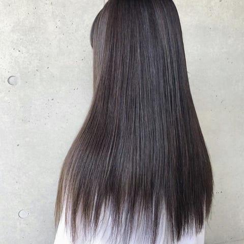 ロングヘアもサラサラ縮毛矯正♪