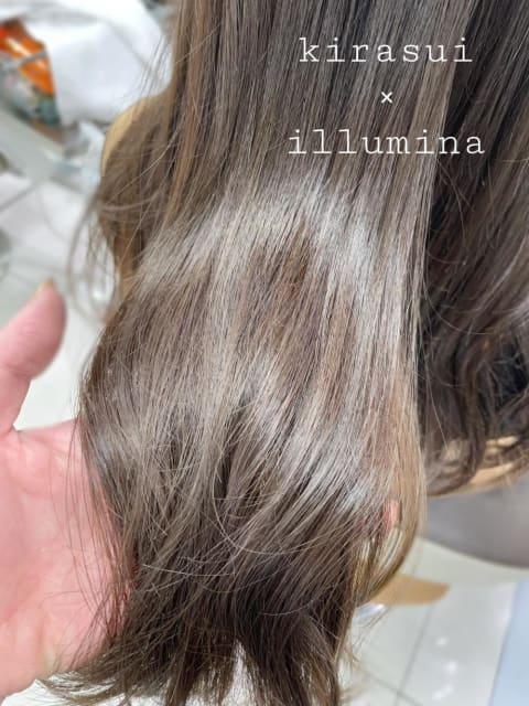 ★ ダメージしやすい方にも!キラ水で文句なしの美髪ロング