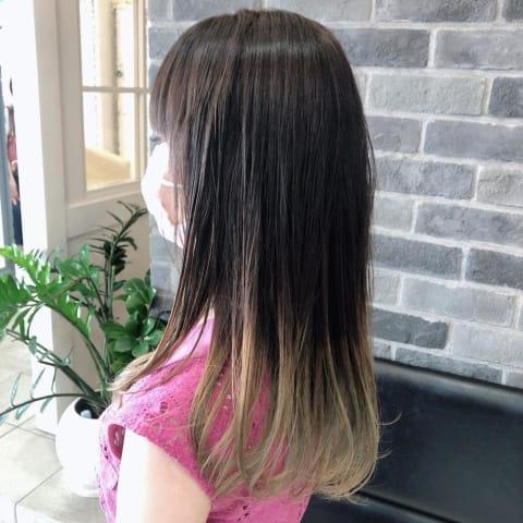 【イルミナカラー】縮毛矯正毛に初めてのグラデーションカラー