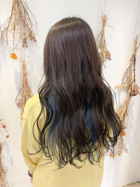 髪質改善カラー×インナーカラー