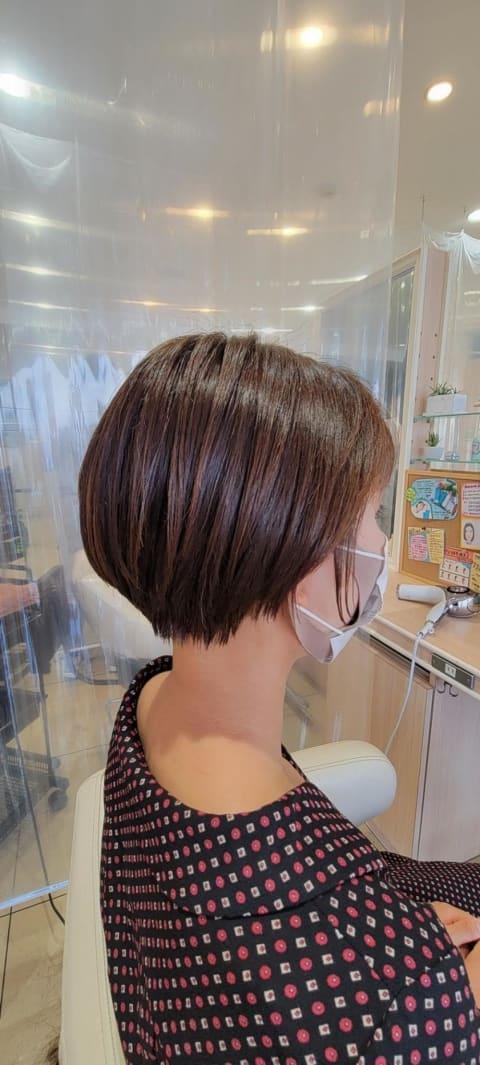 どこから見てもかわいい丸みショートヘアー
