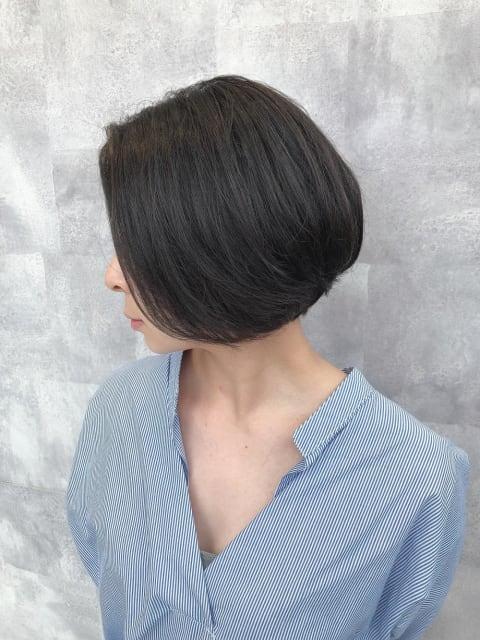 髪質改善縮毛矯正ボブスタイル