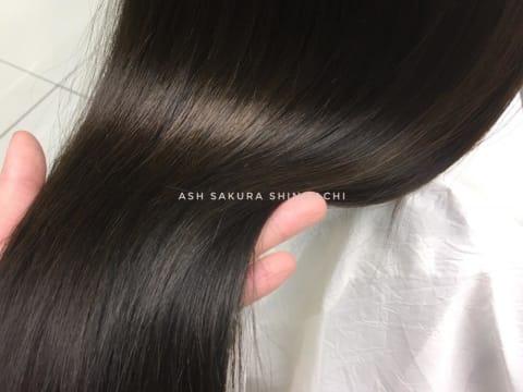 柔らかく仕上げる髪質改善ストレート