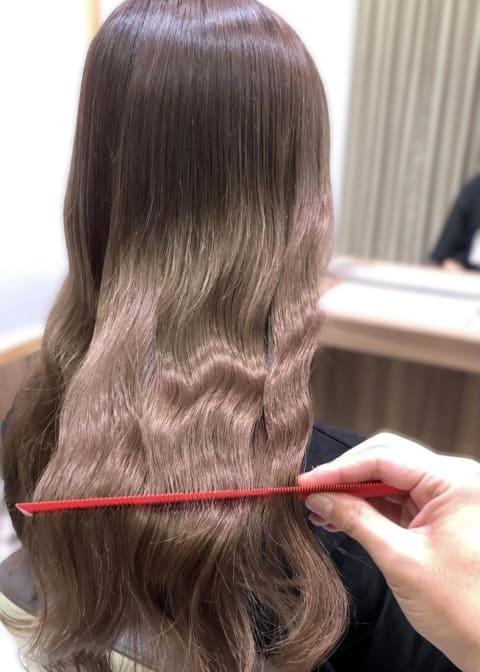 【髪質改善カラー】艶々ブラウン