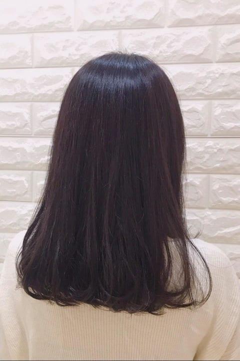 黒髪卒業式♡ほんのりピンクカラー